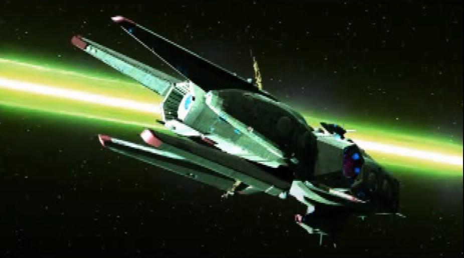 オメガブーストはオープニングで大出力レーザービームを最強艦隊に向けて使った